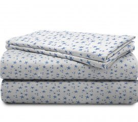blue stars kids sheets