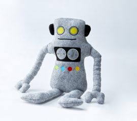 Robot stuffed animal