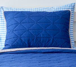 blue quilt for kids bed