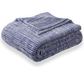 blue throw blanket